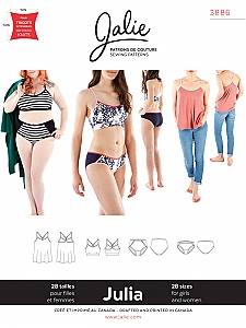 Jalie Patterns - Julia Camisole, Bralette an Panties #3886 - Women/Girls Sizes
