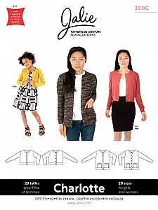 Jalie Patterns - Charlotte Cardigans #3900 - Women/Girls Sizes