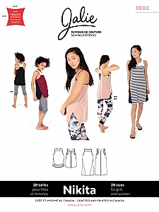 Jalie Patterns - Nikita Workout Tank and Swing Dress #3902 - Women/Girls Sizes