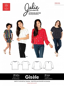 Jalie Patterns - Gisele Round Neck Blouse #3905 - Women/Girls Sizes
