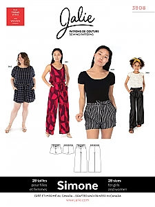Jalie Patterns - Simone Wide-Leg Shorts and Pants #3908 - Women/Girls Sizes
