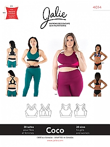 Jalie Patterns - Coco Sports Bra #4014 - Women/Girls Sizes