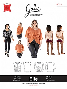 Jalie Patterns - Elle Reversible Top #4015 - Women/Girls Sizes