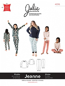 Jalie Patterns - Jeanne Knit PJ Set #4016 - Women/Girls Sizes