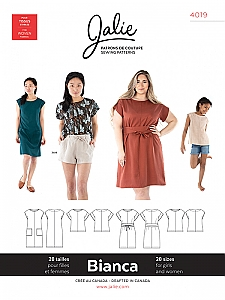 Jalie Patterns - Bianca Dress and Top #4019 - Women/Girls Sizes