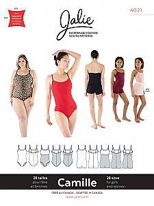 Jalie Patterns - Camille Cami Leotard and Biketard #4021 - Women/Girls Sizes