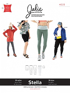 Jalie Patterns - Stella Leggings, Running Belt and Beanie #4023 - Women/Girls Sizes