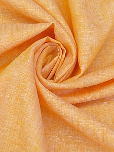 Apricot/White 100% Linen Light-Weight Yarn-Dyed Chambray Linen 58W