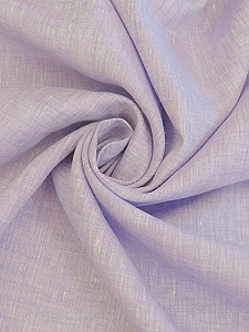 Soft Lavender/White 100% Linen Light-Weight Yarn-Dyed Chambray Linen 58W