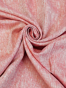 Amaranth Red/White 100% Linen Light-Weight Yarn-Dyed Chambray Linen 58W