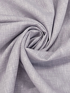 Putty/White (Purple Toned Gray) 100% Linen Light-Weight Yarn-Dyed Chambray Linen 58W