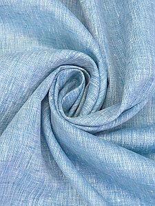 Carolina Blue/White 100% Linen Light-Weight Yarn-Dyed Chambray Linen 58W