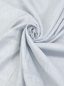 Ice Blue/White 100% Linen Light-Weight Yarn-Dyed Chambray Linen 58W