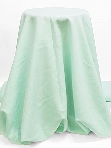 Mint/White 100% Linen Light-Weight Yarn-Dyed Chambray Linen 58W