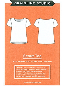 Grainline Studio Patterns - Scout Tee #11002 - Sizes 0-18