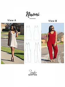 Style Sew Me - Naomi Dress & Jumpsuit - Sizes XS-XXXL