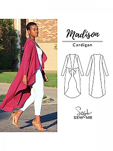 Style Sew Me - Madision Waterfall Cardigan - Sizes XXS - XXXL