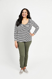 Cashmerette Patterns - Concord T-Shirt #2201 - Sizes 12-28