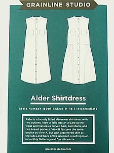 Grainline Studio Patterns - Alder Shirtdress #13001 - Sizes 0-18