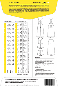 Closet Core Patterns - Jenny Overalls & Trousers #14 - Sizes 0-20