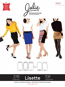 Jalie Patterns - Lisette Pull-On Pencil Skirt #3883 - Woman/Girls Sizes