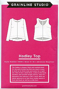 Grainline Studio Patterns - Hadley Top #11008 - Sizes 0-18
