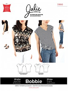 Jalie Patterns - Bobbie  Worry-Free V-Neck Top # 3880 - Women/Girls Sizes
