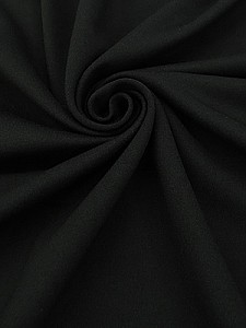 Midnight Black Viscose/Nylon/Lycra Ponte Knit 58W