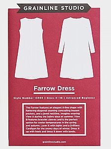 Grainline Studio Patterns - Farrow Dress #13003 - Sizes 0-18
