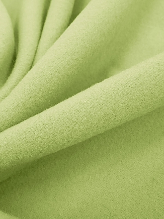 Pale Moss Wool/Cashmere/Nylon Plush Coating - Imported From Italy by a NY Designer - 60W