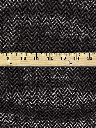 Black/Graphite/Silver Cotton/Wool/Polyester/Metallic Herringbone Suiting - Imported From Italy By NY Designer - 60W