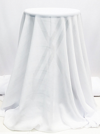 Ice White 100% Polyester Georgette - Famous Dress Designer - 60W