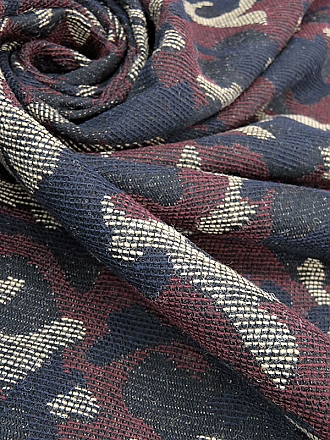 Black/Deep Red/Oat/Midnight Navy 100% Wool Camouflage-Look Jacquard Jacket-Weight Woven - NY Designer - 48W