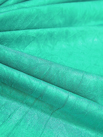 Sea Green Polyester/Lycra Lightweight Crinkled Shiny Knit 60W