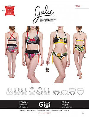 Jalie Patterns - Gigi Bikinis #3671 - Women/Girls Sizes
