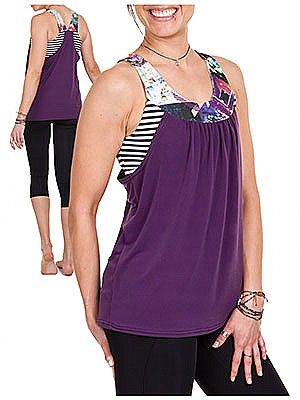 Jalie Patterns - Pika Sports Bra and Layered Blouson Tank #3679 - Women/Girls Sizes