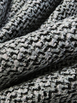 Light Gray/Silver/Black Polyester/Acrylic/Metallic Boucle Coating 58W