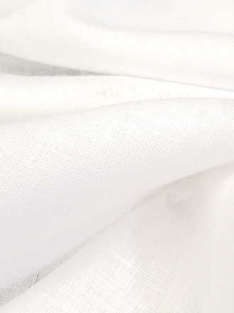 White 100% Linen Light-Weight Yarn-Dyed Chambray Linen 58W