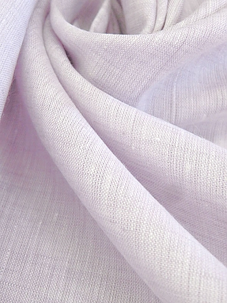 Lilac/White 100% Linen Light-Weight Yarn-Dyed Chambray Linen 58W