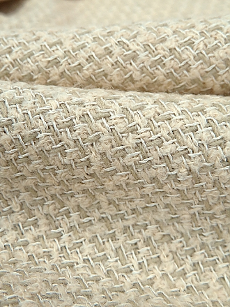 Ivory Cotton/Polyester Grid Weave With Sequins Netting 60W