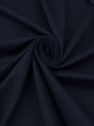 Deep Midnight Navy/White Cotton/Polyester Tweed Suiting - Imported From Italy By Milly - 56W