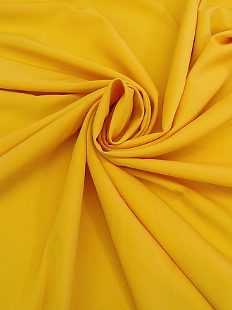 Daffodil Yellow Polyester/Lycra Cady Stretch Suiting - NY Designer - 61W