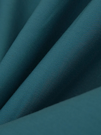 Prussian Blue Cotton/Polyester Seersucker 56W