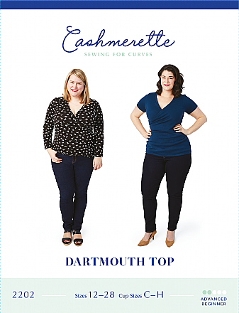 Cashmerette Patterns - Dartmouth Top #2202 - Sizes 12-28