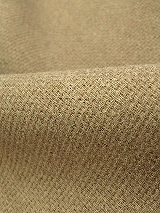 Tan Wool/Polyester Basket Weave Double Weave Coating 60W