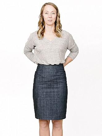 Sew House Seven Patterns - The Alberta Street Pencil Skirt Pattern - Sizes 0-20