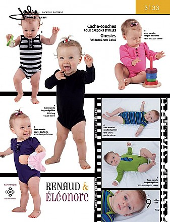 Jalie Patterns - Bodysuit for Babies #3133