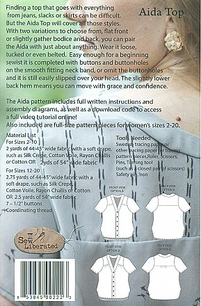Sew Liberated - Aida Top - Sizes 2-20