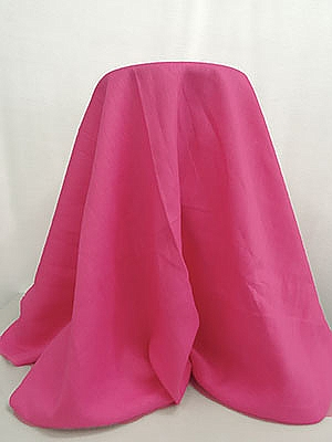 BUY THE PIECE 2.5 yards Bright Pink 100% Linen 57W