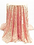 Peachy Pink Polyester/Lycra Crushed Stretch Velvet Knit 58W